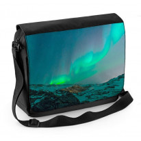 Northern Lights Mountains Laptop Messenger Bag
