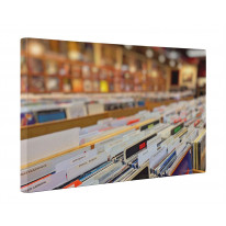 Vinyl Record Shop Box Canvas Print Wall Art - Choice of Sizes