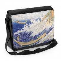 Hokusai Ocean Waves Laptop Messenger Bag