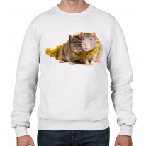 Pet Rats With Tinsel Christmas Men's Jumper \ Sweater