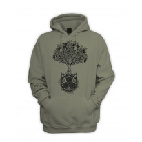 Celtic Spiral Tree of Life Men's Pouch Pocket Hoodie Hooded Sweatshirt