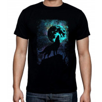 Wolf Howling at the Moon Men's T-Shirt