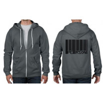 Barcode Person Full Zip Hoodie