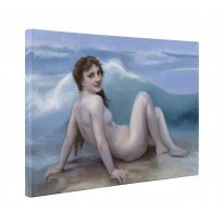 William Bouguereau The Wave Box Canvas Print Wall Art - Choice of Sizes