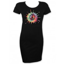 Psychedelic CND Symbol Short Sleeve T-Shirt Dress