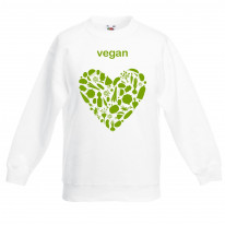 Vegan Heart Children's Unisex Sweatshirt Jumper