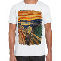 Edvard Munch The Scream Large Print Men's T-Shirt
