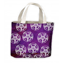 Pentagram Pagan Tote Shopping Bag For Life