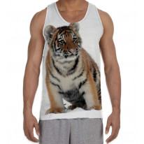 Tiger Cub in Snow Men's All Over Graphic Vest Tank Top