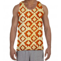 Buddhist Pattern Men's All Over Graphic Vest Tank Top