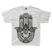 Tribal Hamsa Hand Of Fatima Tattoo Large Print Kids Children's T-Shirt