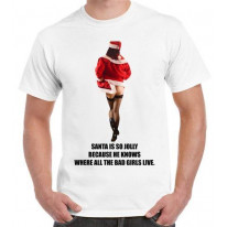 Santa Is So Jolly Bad Girls Christmas T-Shirt