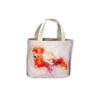 Single Flamingo Drawing Tote Shopping Bag For Life