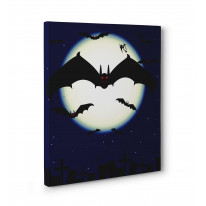 Vampire Bats Box Canvas Print Wall Art - Choice of Sizes