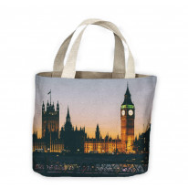 Big Ben and Houses of Parliament At Night Tote Shopping Bag For Life