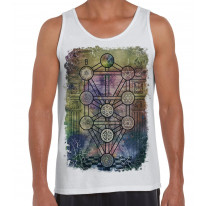 The Tree of Life Kabbalah Large Print Men's Vest Tank Top