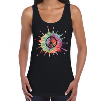 Psychedelic CND Peace Symbol Women's Tank Vest Top