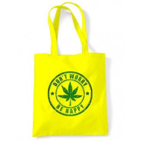 Don't Worry Be Happy Cannabis Shoulder Bag
