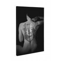Nude with Marilyn Monroe Tattoo Box Canvas Print Wall Art - Choice of Sizes