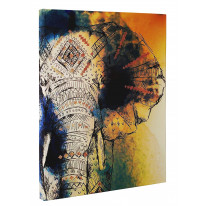 Elephant Painting Box Canvas Print Wall Art - Choice of Sizes