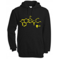 Smiley Acid LSD Chemical Formula Hooded Sweatshirt Hoodie