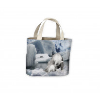 Mother Polar Bear and Baby Tote Shopping Bag For Life