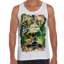 Lion of Judah Zion Reggae Large Print Men's Vest Tank Top
