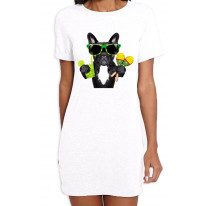 French Bulldog Brazillian Style Women's T-Shirt Dress