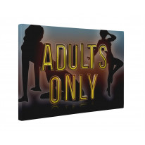 Adults Only Sign Box Canvas Print Wall Art - Choice of Sizes