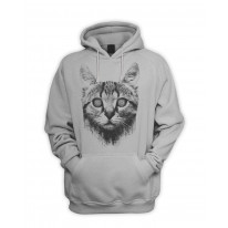Hypnotized Kitten Cat Men's Pouch Pocket Hoodie Hooded Sweatshirt