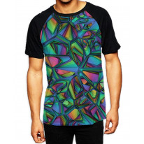 Stained Glass Window  Men's All Over Graphic Contrast Baseball T-Shirt