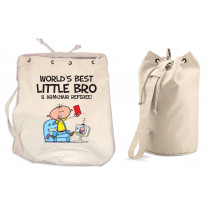 Worlds Best Little Brother Duffle Backpack Bag