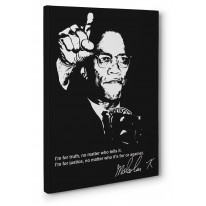 Malcolm X Truth Quote Canvas Print Wall Art - Choice Of Sizes