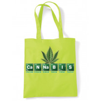 Cannabis Periodic Table Marijuana Tote Shoulder Shopping Bag