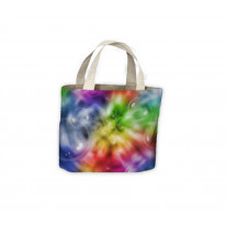 Colour Spiral with Bubbles Pattern Background Tote Shopping Bag For Life