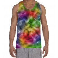 Colour Spiral with Bubbles Pattern Background Men's All Over Graphic Vest Tank Top