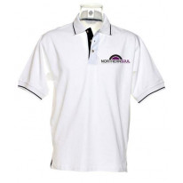 Northern Soul Vinyl Logo Tipped Polo T-Shirt