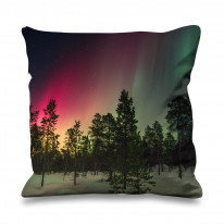 Northern Lights Woodland Faux Silk 45cm x 45cm Sofa Cushion