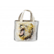 Female Lion Drawing Tote Shopping Bag For Life