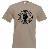 Northern Soul Keep The Faith Blackprint T-Shirt