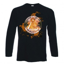 Illuminati Flames Long Sleeve T-Shirt