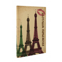 From Paris with Love Box Canvas Print Wall Art - Choice of Sizes