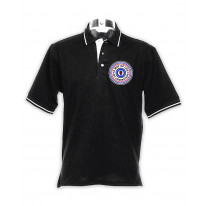Mod Target Badge Men's Tipped Polo Shirt