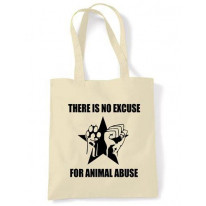 No Excuse For Animal Abuse Shoulder bag