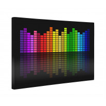 Graphic Equalizer Box Canvas Print Wall Art - Choice of Sizes
