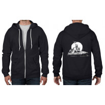 Banksy Los Angeles Flag Full Zip Hoodie