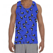 Guitar Pattern Background Men's All Over Graphic Vest Tank Top