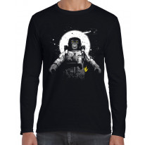 Astronaut Monkey Chimpanzee Long Sleeve T-Shirt