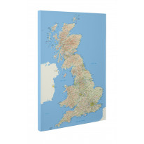 Map of British Isles Box Canvas Print Wall Art - Choice of Sizes