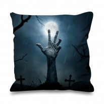 Zombie Hand Faux Silk 45cm x 45cm Sofa Cushion